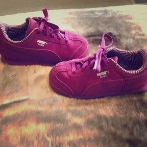 Puma Roma Toddler size 8 purple